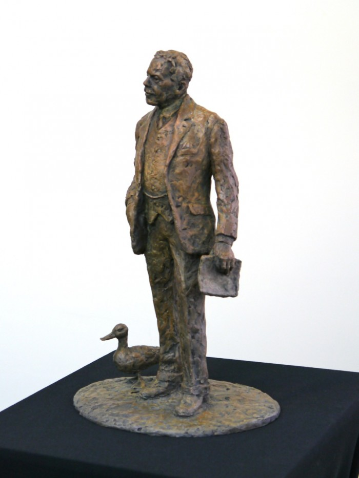The bronze Sir Nigel Gresley and Mallard maquette