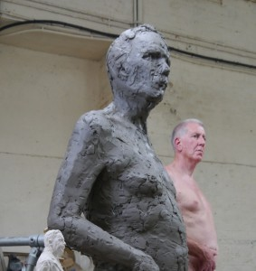 Gresley sculpture in clay with Barry McGerr