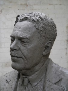 Head of the Gresley statue - work-in-progress