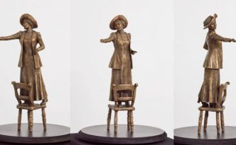 Emmeline Pankhurst bronze - sculpture by Hazel Reeves