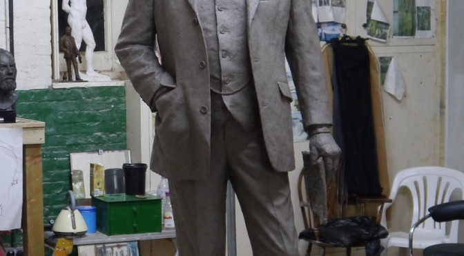 Sculpture of Sir Nigel Gresley