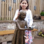 Emily with the bronze Sadako