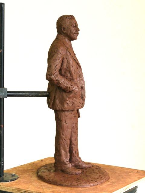 Final clay Gresley maquette - sculpture by Hazel Reeves