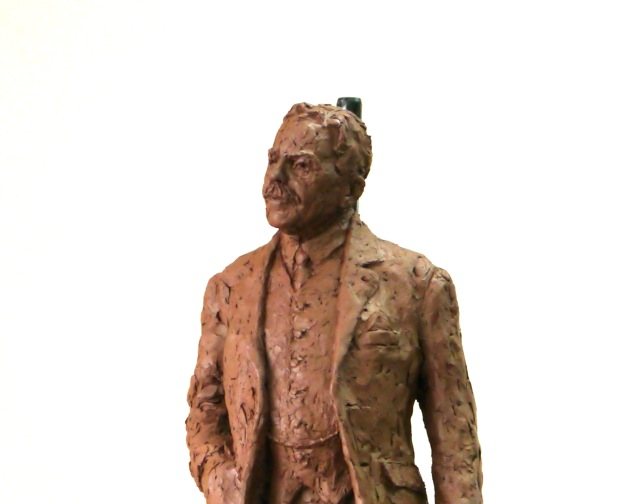 Final clay Gresley maquette - sculpture by Hazel Reeves
