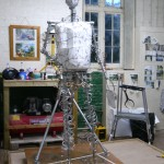 Gresley Statue armature - by Hazel Reeves