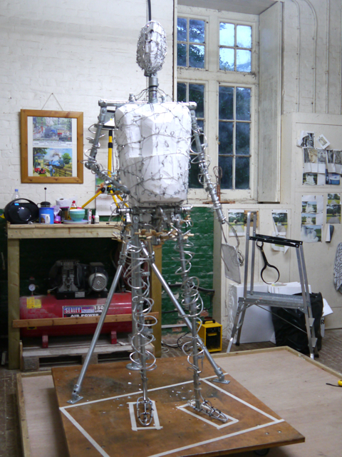 The completed Gresley Statue armature