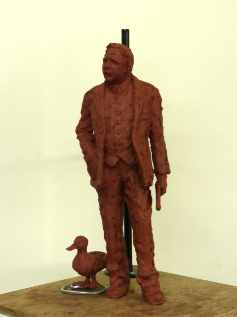 Gresley and Mallard maquette - by Hazel Reeves
