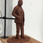 Gresley clay maquette - by Hazel Reeves