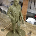 Gresley maquette in wax - by Hazel Reeves