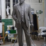 Gresley sculpture final clay - by Hazel Reeves
