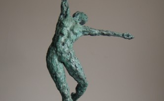 Dance VI - bronze sculpture by Hazel Reeves