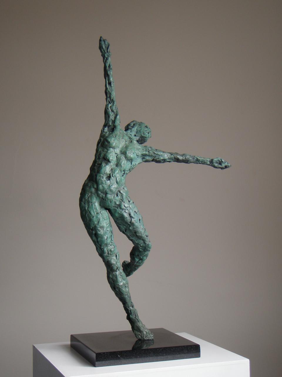 Dance VI - bronze sculpture by Hazel Reeves
