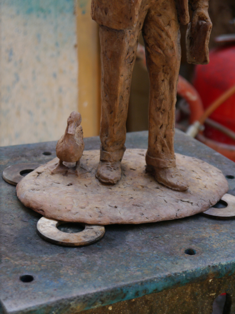 Patinating the gresley maquette - by Hazel Reeves