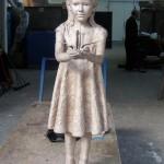 Bronze Sadako at Castle Foundry - sculpture by Hazel Reeves
