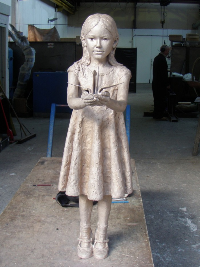 Bronze Sadako at Castle Foundry
