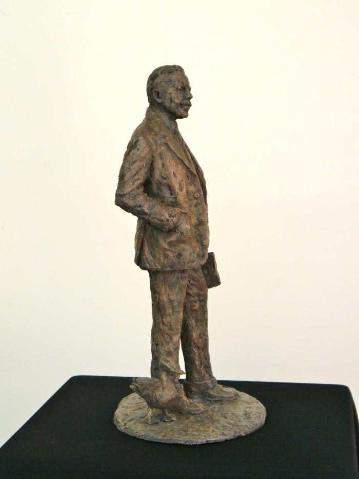 The bronze Sir Nigel Gresley and Mallard maquette