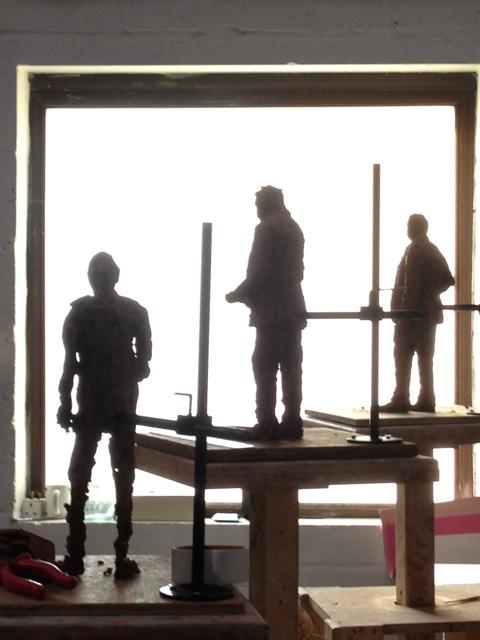 The three Sir Nigel Gresley maquettes