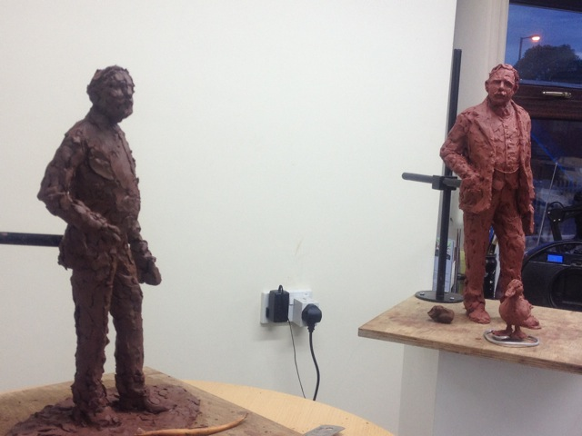 The Sir Nigel Gresley clay maquette – the process