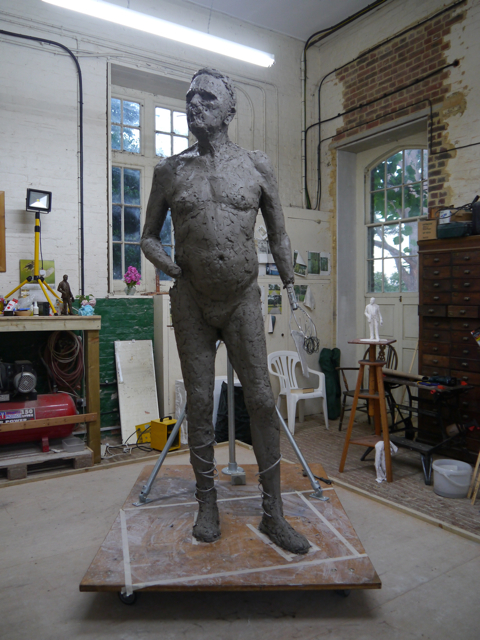 Clay Gresley sculpture, by Hazel Reeves