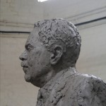 Head of the Gresley statue - by Hazel Reeves