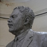 Head of the Gresley statue - by Hazel Reeves