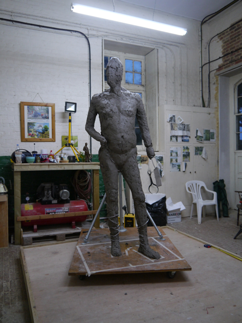 Gresley statue - work-in-progress