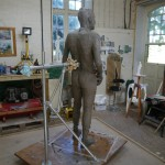 Gresley statue in clay - by Hazel Reeves