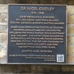 Plaque for statue of Sir Nigel Gresley by Hazel Reeves