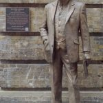 Sir Nigel Gresley by Hazel Reeves with plaque