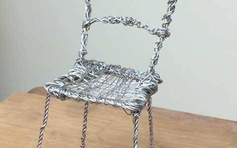 Armature for Emmeline Pankhurst chair by Hazel Reeves