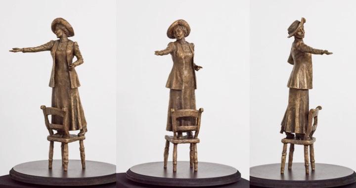 Emmeline Pankhurst bronze - sculpture by Hazel Reeves