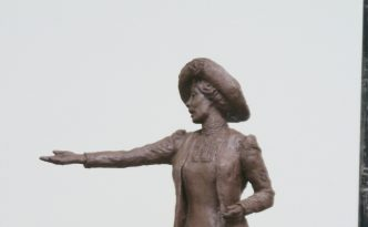 Emmeline Pankhurst sculpture by Hazel Reeves