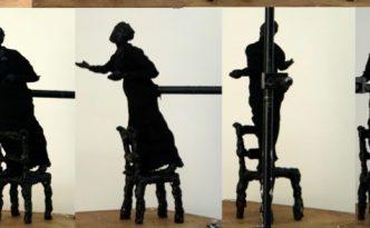 Emmeline Pankhurst wax model by Hazel Reeves