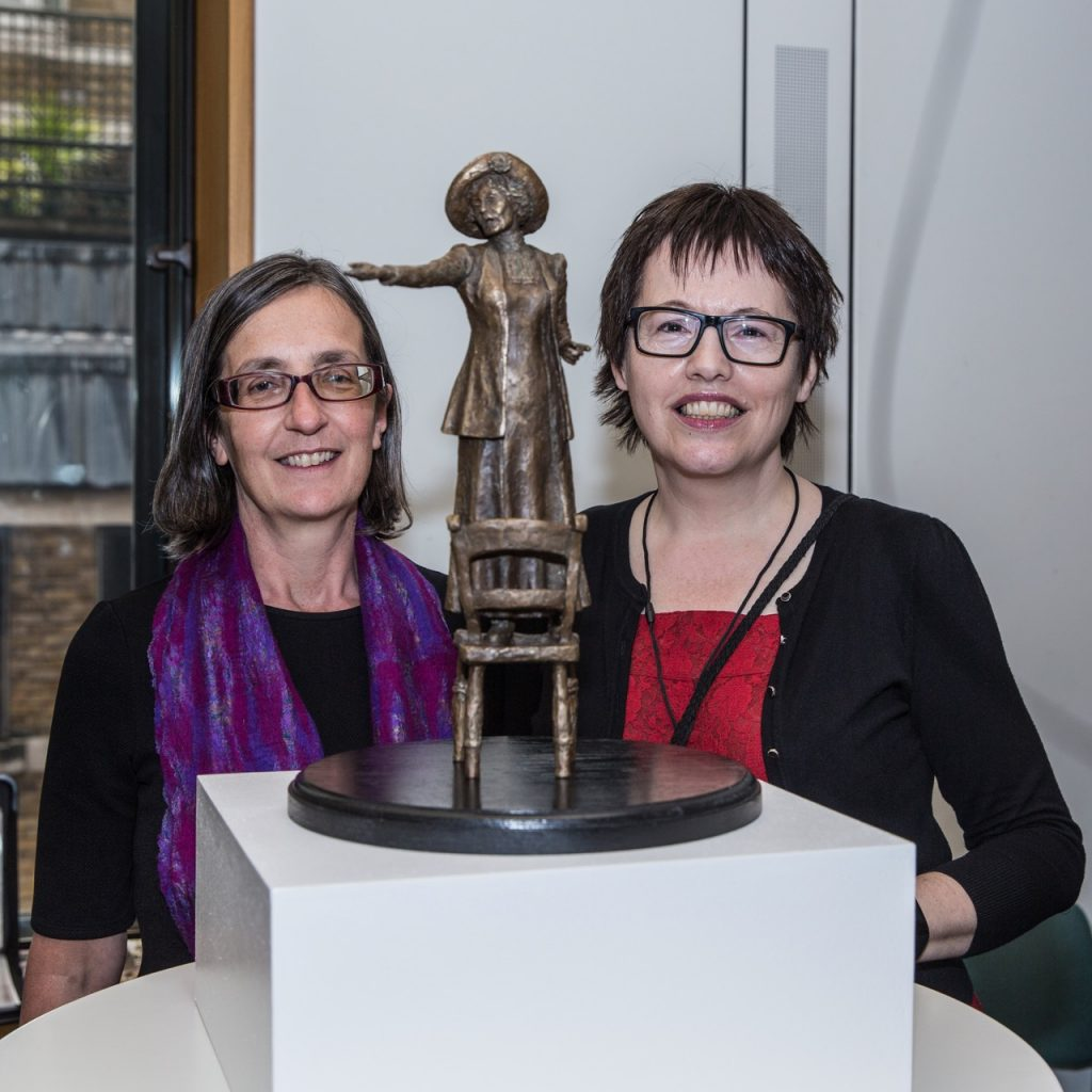 Hazel Reeves with Helen Pankhurst