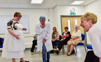 The hilarious Jane and Dot, act out the anecdotes - Photo by Stuart Walker
