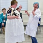 Jane and Dot crack everyone up. Photo by Stuart Walker