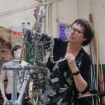Hazel Reeves with the Cracker Packer armature from 1910