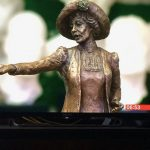 Emmeline Pankhurst maquette on BBC Breakfast