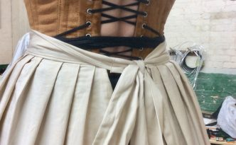 Rosie wearing the corset