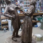 The final bronze Cracker Packers at the foundry
