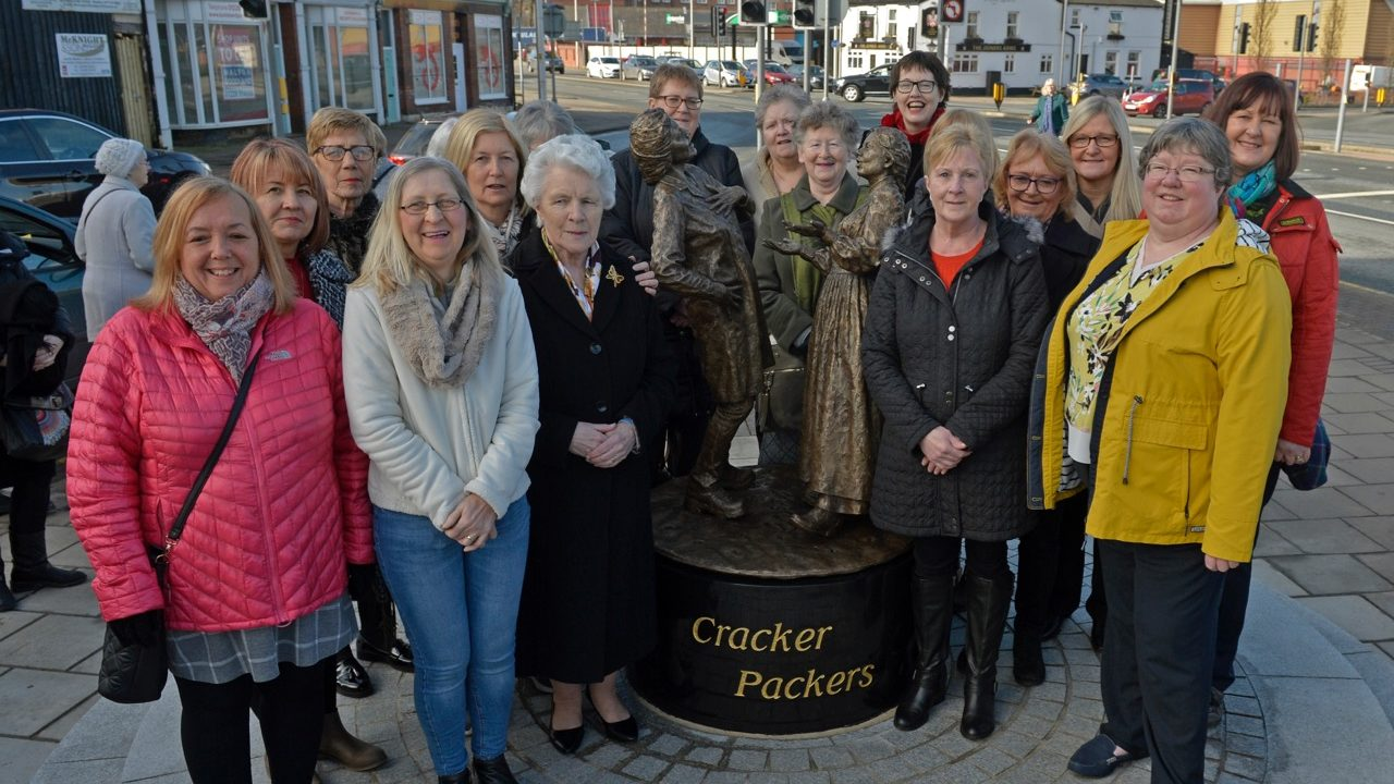 The real and bronze Cracker Packers looking proud (Photo Stuart Walker)