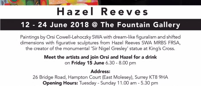 Orsi and Hazel at Fountain Gallery 2018