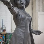 Emmeline Pankhurst sculpture by Hazel Reeves, photo Nigel Kingston