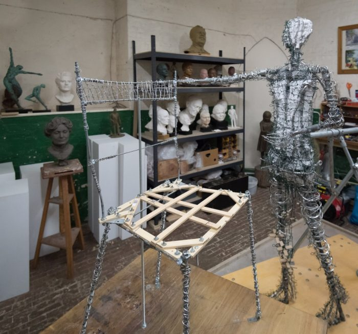 Emmeline armature and her chair - photo by Nigel Kingston