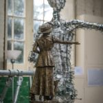 Emmeline Pankhurst maquette by HAzel Reeves with armature - photo by Nigel Kingston