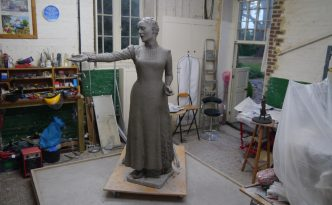 Emmeline work in progress by Hazel Reeves - photo by Hazel