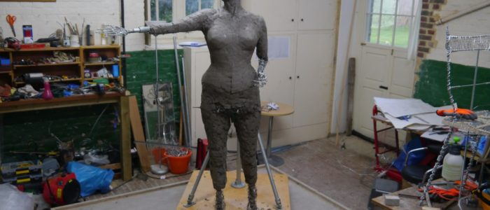 Emmeline work-in-progress by Hazel Reeves- photo by Hazel Reeves