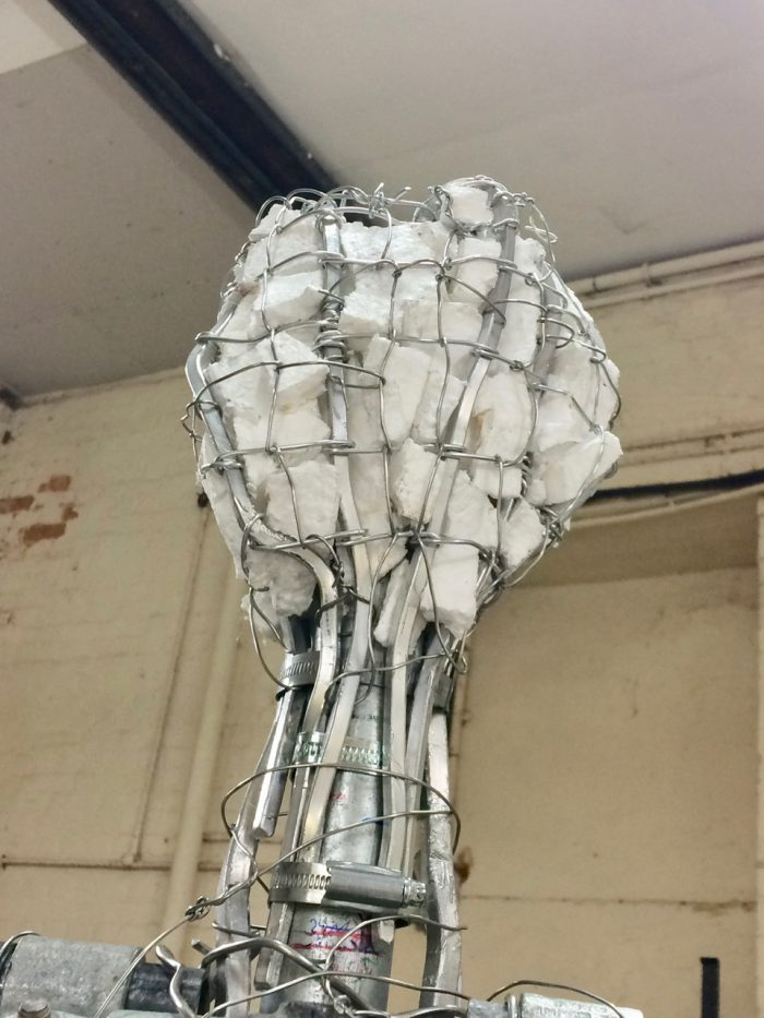 Emmelines head armature - sculpture and photo by Hazel Reeves