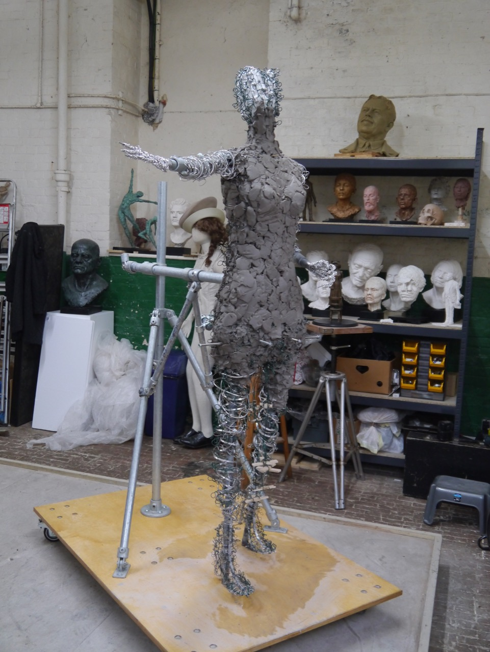 Our Emmeline: Blocking-out in clay