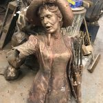 The bronze Emmeline Pankhurst statue - by Hazel Reeves